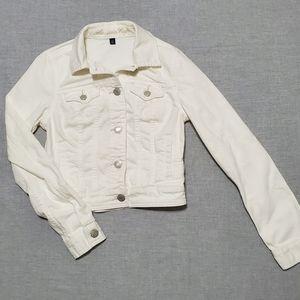 AEO White Denim Jacket